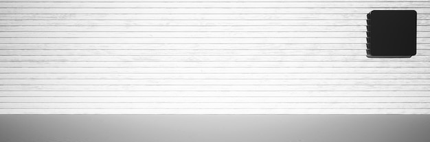 3d rendering background 3d mockup with copy space black and white background