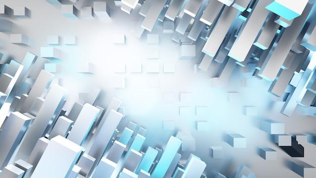 3dレンダリングの背景。将来のsfにおけるコンセプトテクノロジー。