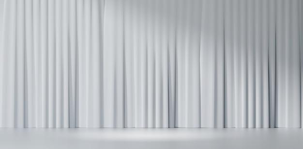 3d-рендеринг фона. белый чистый фон занавес. широкое изображение для презентации.