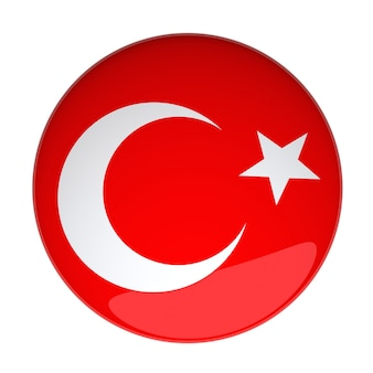 3d rendering of a badge with the turkey flag