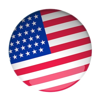 3d rendering of a badge with the usa flag