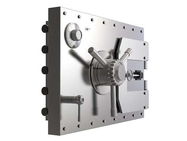 3d-рендеринг банковского сейфа или банковского хранилища изолированы