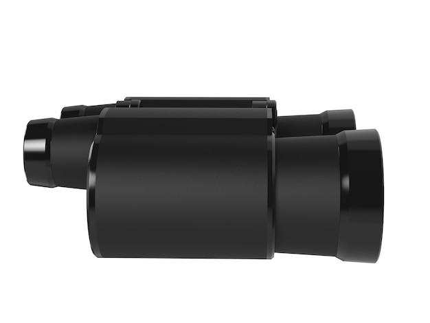 흰색 배경에 고립 된 3d 렌더링 쌍안경