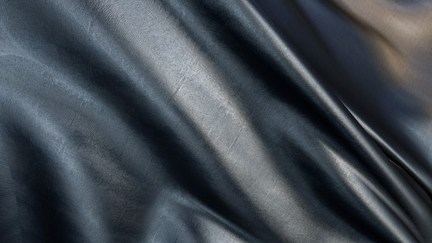 3d rendering of black fabric texture