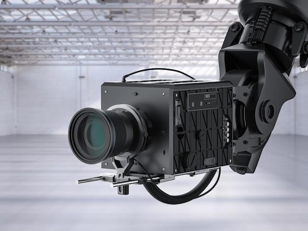 3d-рендеринг черной руки робота с камерой или роботизированной камерой