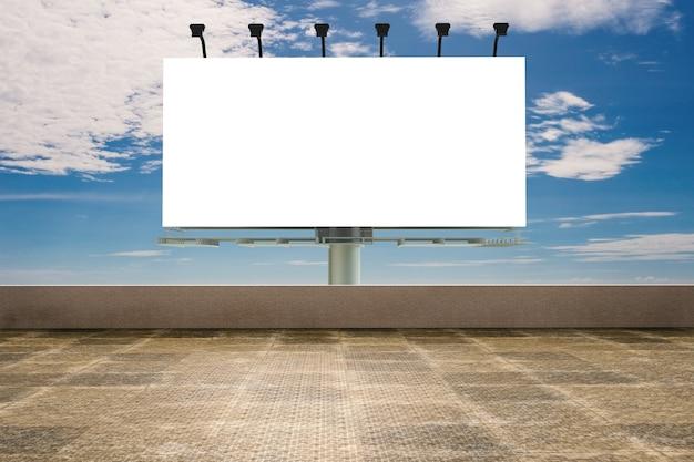 3d рендеринг пустой рекламный щит с террасой