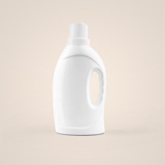 灰色の背景に分離されたスポイトハンドルと空白の白い化粧品のプラスチックボトルを3dレンダリングします。あなたのモックアップデザインに合います。