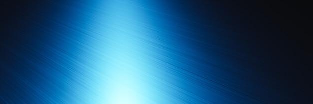 3d 렌더링 파란색 금속 질감 어두운 배경