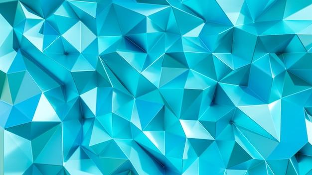 3dレンダリング。青い三角形の抽象的な背景。