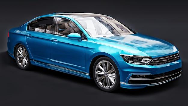 3d rendering of a brandless generic car Premium Photo