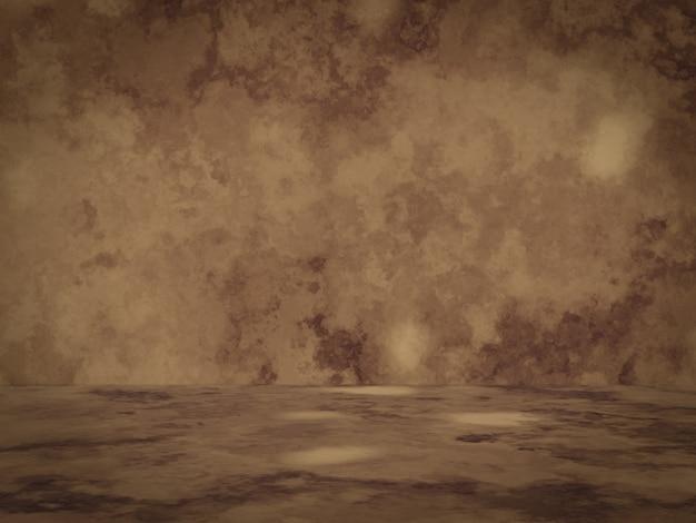 3d 렌더링. 갈색 시멘트 벽 배경