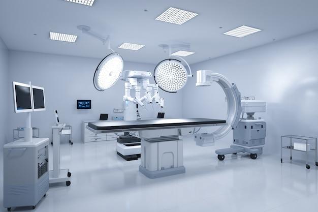 3d-рендеринг сканера c-arm с хирургическим роботом