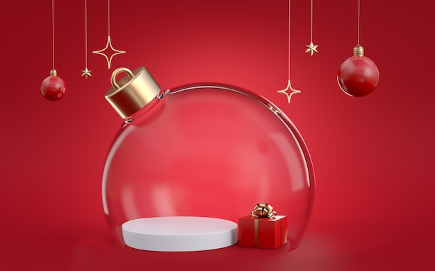 3d rendering of christmas