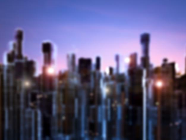 都市景観のぼやけた背景の3dレンダリング