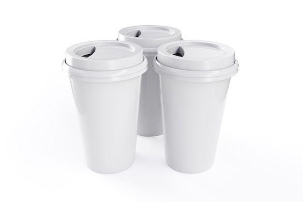 3d rendering coffee mug with white background