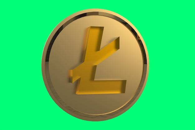 3d rendering coin photo premium