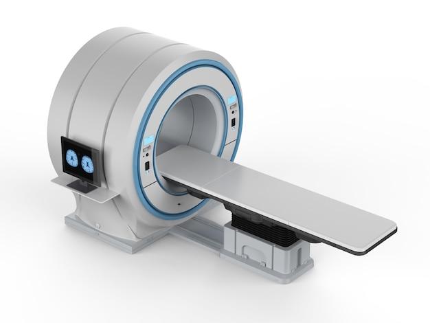 3d 렌더링 컴퓨터 모니터는 mri 실험실에서 x선 뇌를 표시합니다.