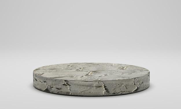 3d-рендеринг. бетонный подиум изолирован.