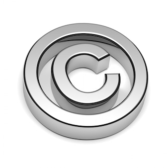 3d rendering of copyright sign
