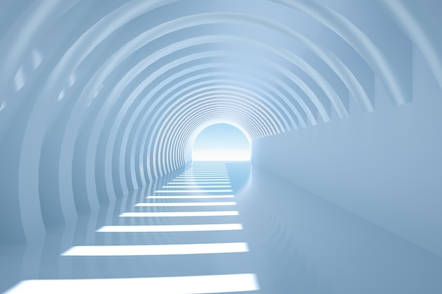 Дизайн интерьера коридора 3d рендеринг