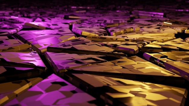 3d-рендеринг. космические разноцветные кристаллы инопланетного мира. jewel. неизвестная планета