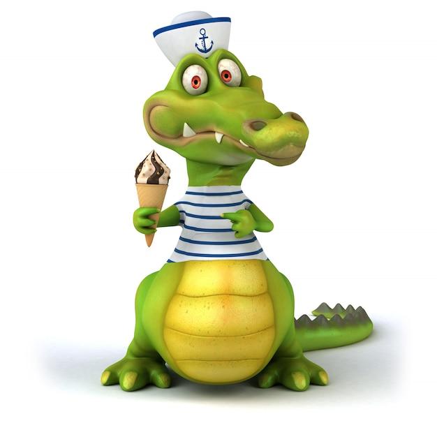 3d rendering of crocodile