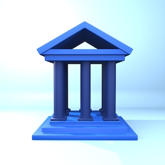 3d rendering curt illustration. 3d curt icon. isolated 3d curt illustration on blue background