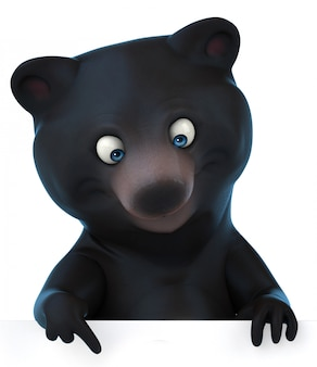 3d rendering of cute bear