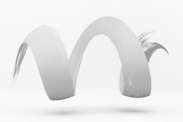 페인트 스트로크의 3d 렌더링 디자인