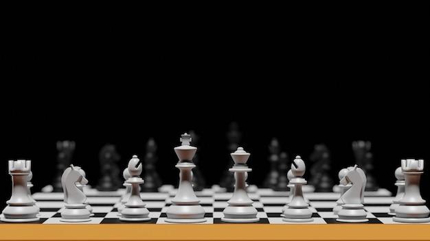 開発ビジネス向けの戦略的インテリジェンスを備えた競争戦争チェスでは、3dレンダリングが異なります。挑戦と戦いのビジネスのためのアドバンテージリーダーシップ。