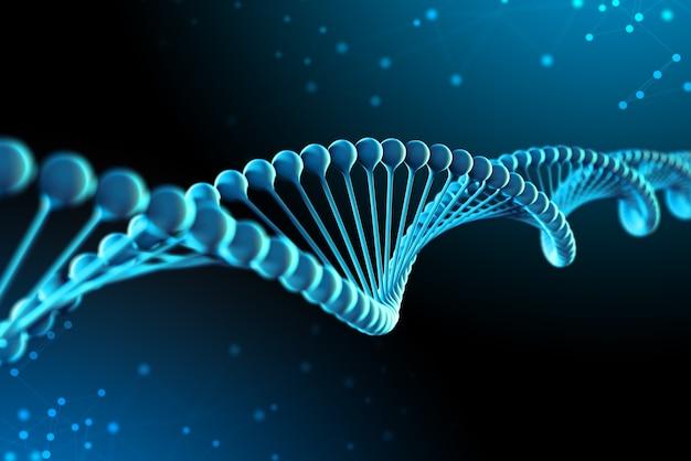 3d rendering of dna molecules