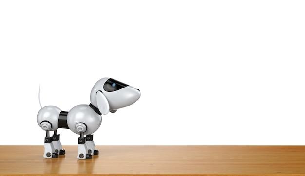 3d рендеринг собака робот на белом фоне