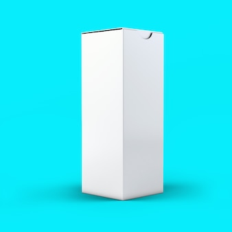 3d rendering effervescent bottle box isolated on toscha