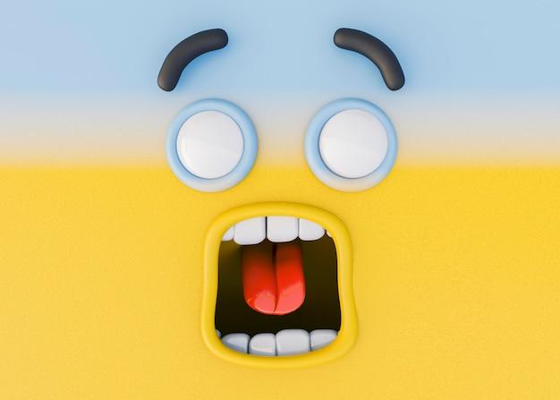 3d rendering of emotions