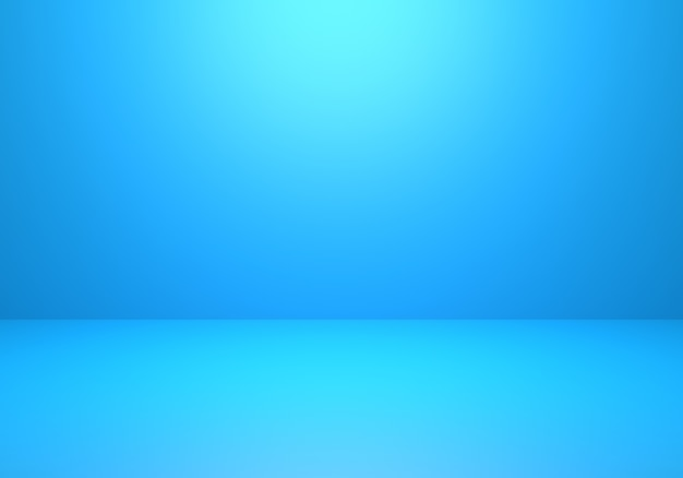 3d rendering of empty blue abstract minimal concept background