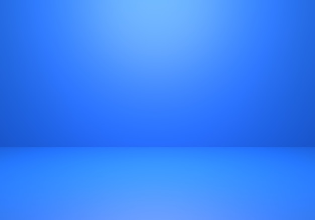 3d rendering of empty classic blue abstract minimal concept background
