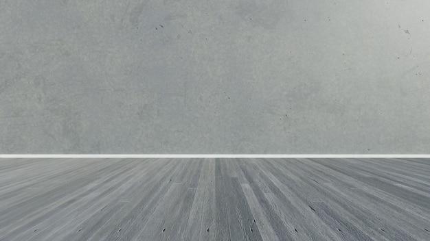 3d rendering. empty concrete room wall.