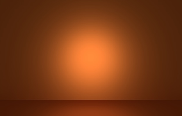 3d rendering of empty dark orange abstract halloween concept