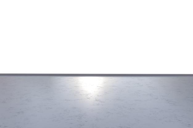白で隔離される空の床をレンダリングする3d
