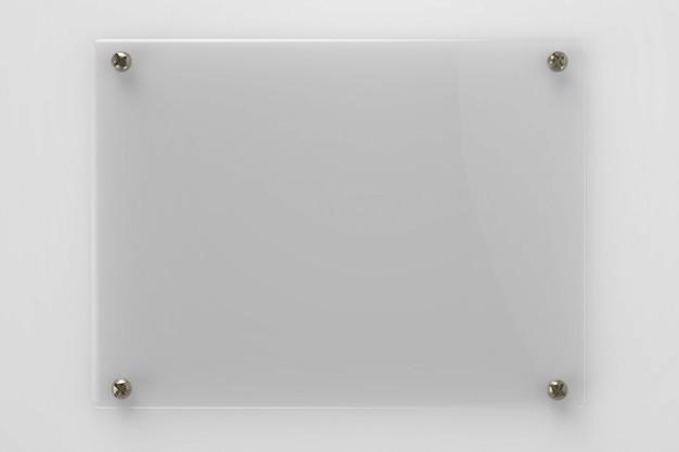 空のガラスボードまたはアクリルボードの3dレンダリング