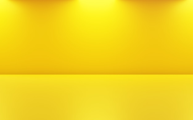 3d rendering of empty gold room abstract minimal concept background