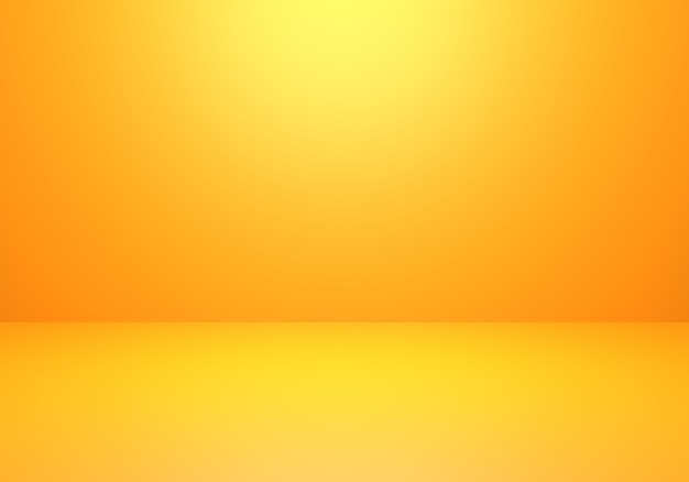3d rendering of empty orange abstract minimal concept background