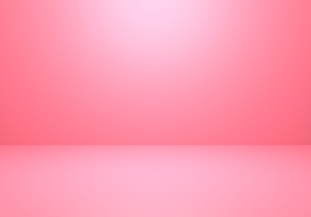 3d rendering of empty pink abstract minimal concept background