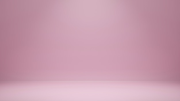 3d rendering, empty pink color studio room background with copy space for display product or banner website
