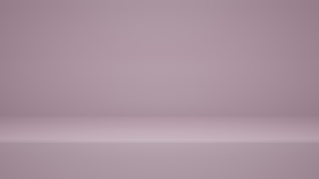 3dレンダリング、ディスプレイ製品またはバナーwebサイト用のコピースペースを備えた空のピンク色のスタジオルームの背景