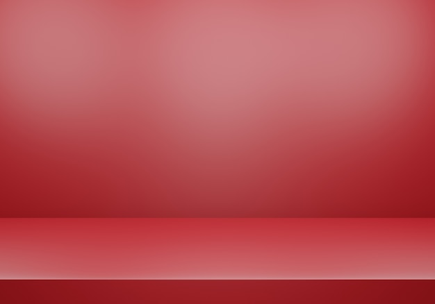 3d rendering of empty red abstract minimal concept background