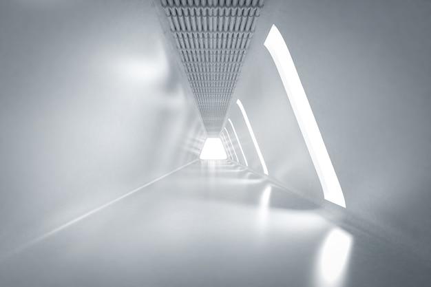 三角形の空の部屋のインテリアを3dレンダリング