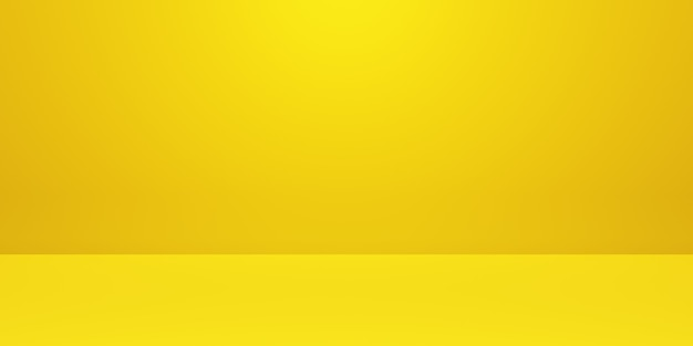 3d rendering of empty yellow gold abstract minimal concept background. scene for advertising