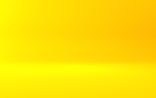 3d rendering of empty yellow orange abstract minimal concept background. scene for advertising,