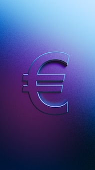 3d rendering of euro sign